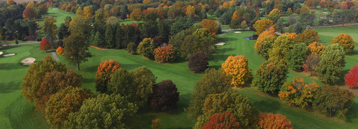 golf course ariel view